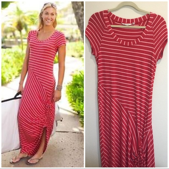 c3b7621c85 Athleta Dresses & Skirts - NWOT Athleta Striped Maxi Dress Shark Bite Coral  S